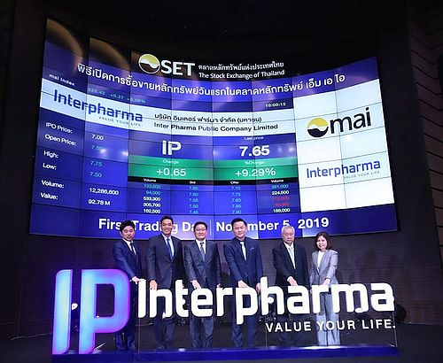 Interpharma (SET: IP) opens on MAI, targets becoming Top Healthcare and Wellness Brand