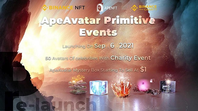 Binance and APENFT to Cohost ApeAvatar Charity Mystery Box Event on September 6