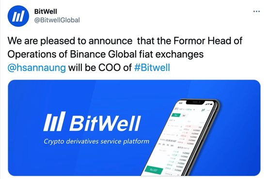 Former Head of Operations of Binance Global Fiat Exchanges becomes COO of BitWell