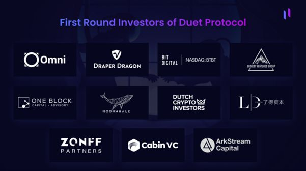 Duet Protocol closes first-round funding at US$3 million