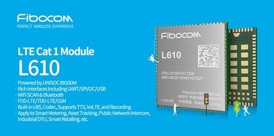 Fibocom Launches UNISOC 8910DM Powered LTE Cat.1 Module at Embedded World 2020
