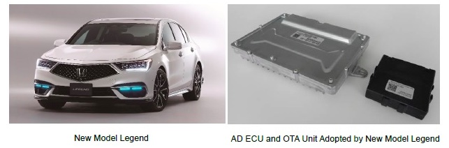 AD ECU and OTA Unit Adopted in New Model Legend Capable of Over-the-Air (OTA) Vehicle Control Software Updating - Stocks News Feed