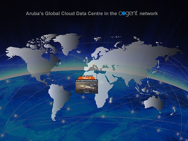 Aruba's Global Cloud Data Center enhances international accessibility with the activation of new Cogent PoP