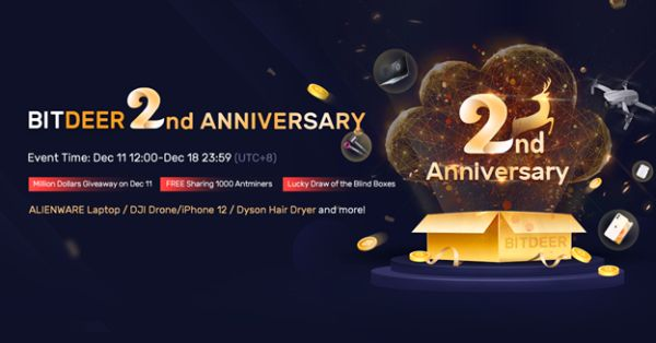 BitDeer.com Kicks Off its Second Anniversary with Promotional Events