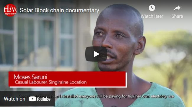 Distributed Energy System Built on the Bitcoin Lightning Network (BLN) and Whive Protocol, Piloted in East Africa