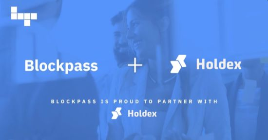 Home of the Crypto Community, Holdex Implements the VerifEye Badge to Authenticate User's Identity Using Blockpass