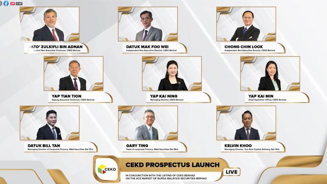 CEKD Berhad Launches Prospectus to Raise RM24.28 Million from IPO