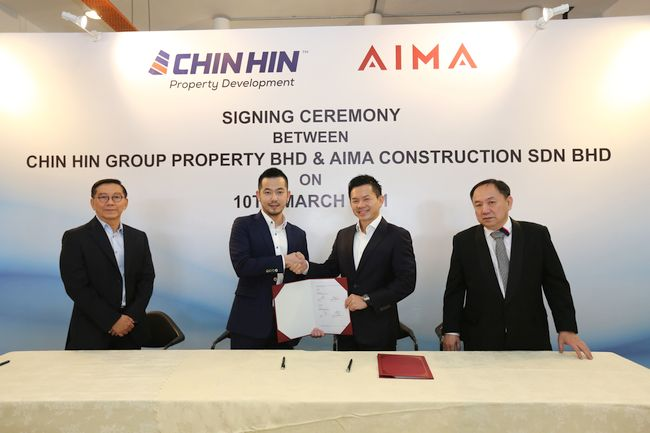 Chin Hin Group Property to acquire 45% stake in Aima Construction for RM31.5 million