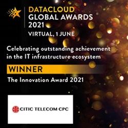 中信国际电讯CPC嬴得2021年度数据云全球大奖 (Datacloud Global Awards)