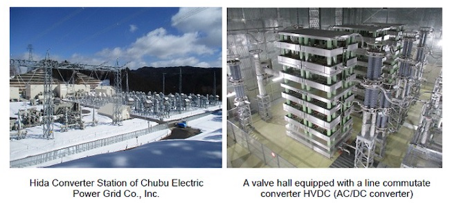 Completion of Chubu Electric Power Grid Hida Converter Station Equipped with Hitachi's Frequency Converters