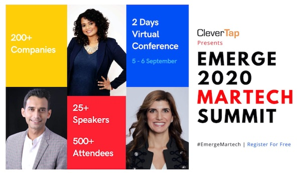 Clavent's Emerge 2020 Martech Summit Goes Virtual, powered by CleverTap