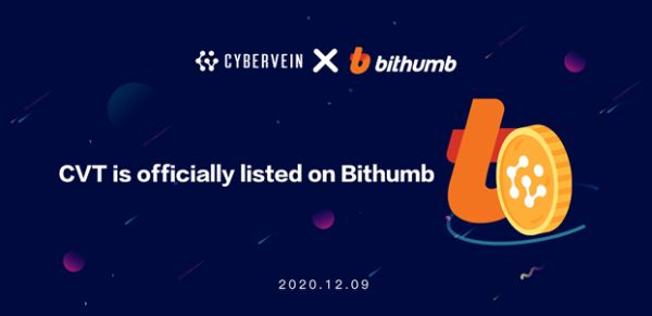 Top Digital Exchange Bithumb Lists CyberVein Native Token CVT