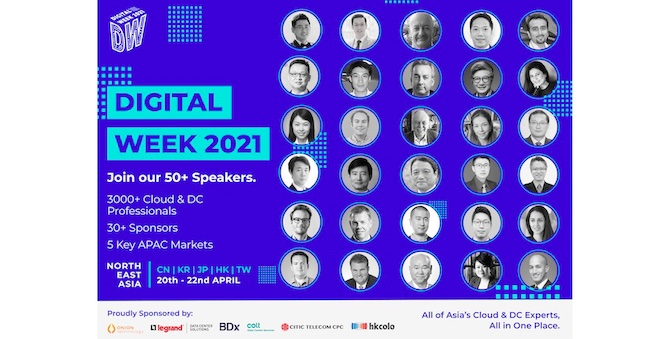 Join Asia's top Cloud and Cybersecurity Experts as they discuss Industry 4.0 developments at Digital Week, 20-22 April 2021