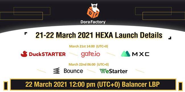 Dora Factory HEXA IDO Launch