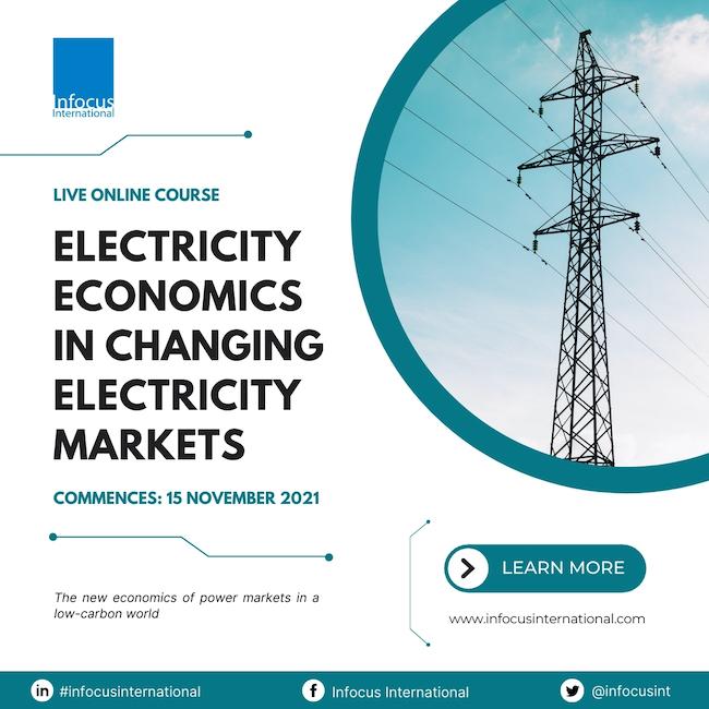 Infocus International Announces Online Masterclass on Electricity Economics