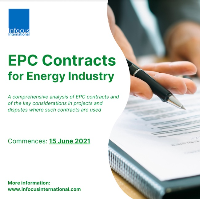 EPC Contracts for Energy Industry Online Masterclass is Now Back by Popular Demand