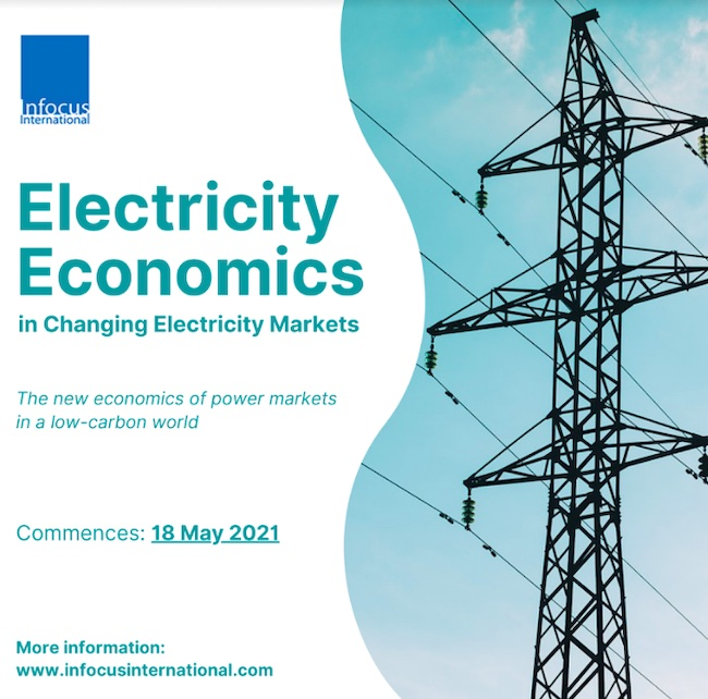 Infocus International Announces Online Masterclass on Electricity Economics