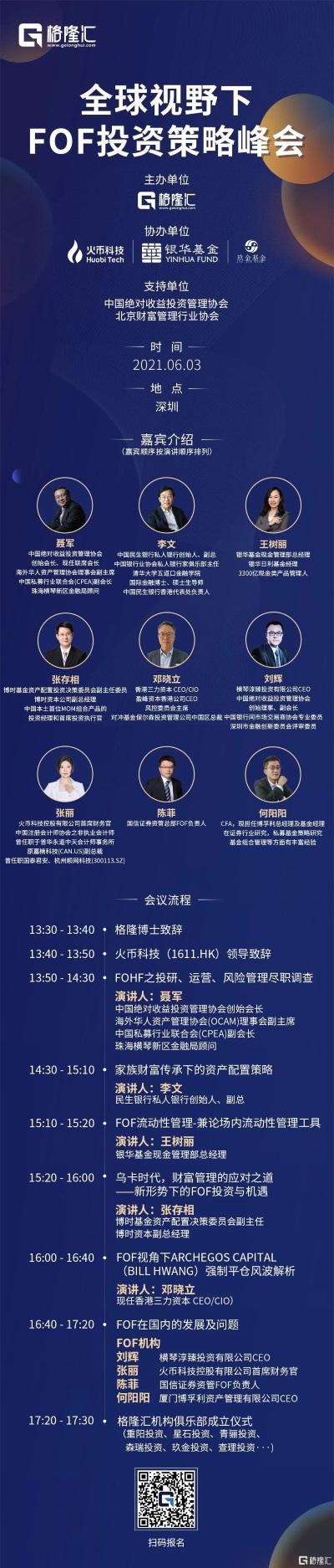 格隆汇首届 | 全球视野下FOF投资策略峰会