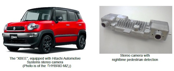 Hitachi Automotive Systems Stereo Camera with Lane Keep Assist Adopted by Suzuki for their 'XBEE' with Enhanced Safety Devices