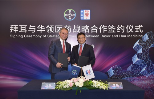 Bayer and Hua Medicine announce commercialization agreement and strategic partnership for investigational first-in-class novel diabetes treatment dorzagliatin in China