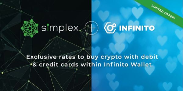 "Infinito Partners with Simplex, Brings ""Buy Crypto with Credit"" Function to Wallet Users"
