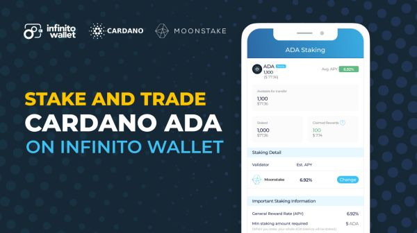 Infinito Wallet and Moonstake enable staking and investment tools for Cardano ADA community