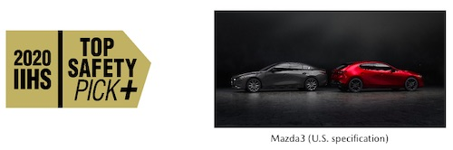 Mazda Earns Six IIHS Top Safety Pick+ Awards, the Most Among Automakers Tested for 2020