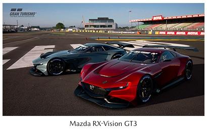 Mazda Begins Providing, Virtual Racing Car, Mazda RX-Vision GT3 Concept Online