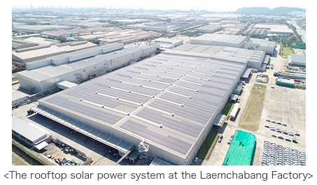 MITSUBISHI MOTORS Started Operation of a Rooftop Solar Power System at Its Laemchabang Factory in Thailand