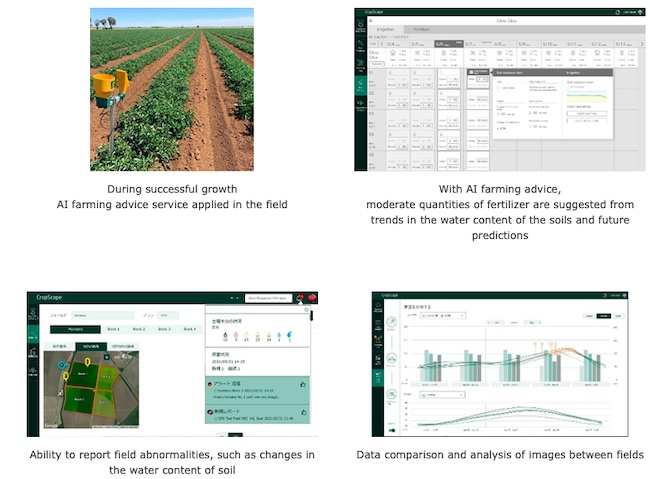 NEC and Kagome contribute to the sustainability of farming through enhancing the CropScope agricultural ICT platform