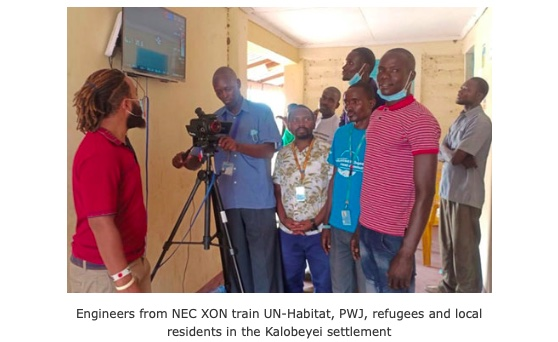 NEC, UN-Habitat and Peace Winds Japan provide thermography camera in Kenya to prevent the spread of COVID-19