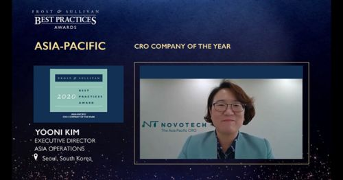 Novotech the Asia-Pacific CRO Leader - Awarded '2020 Frost & Sullivan Asia-Pacific CRO Company of the Year'