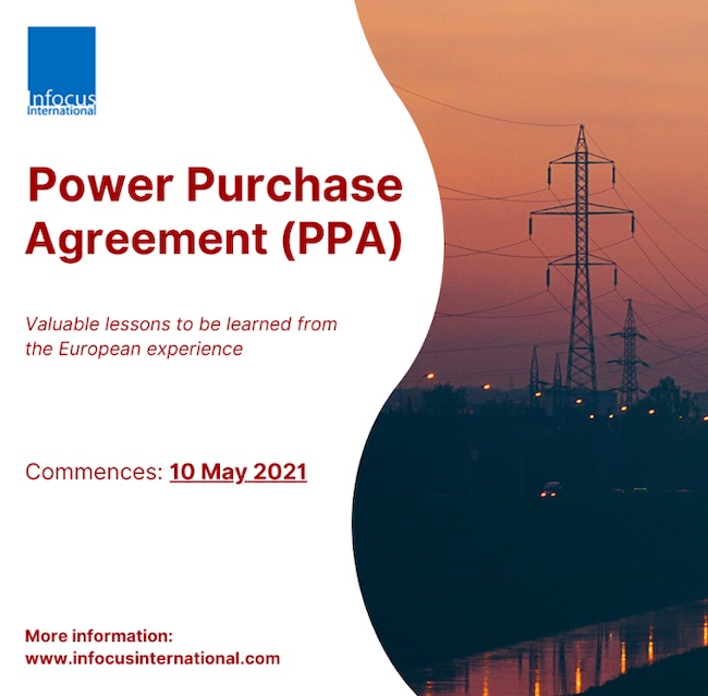 Live Online Masterclass: Power Purchase Agreement