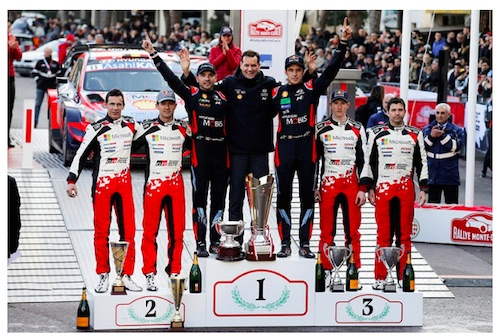 Double Podium in Monte Carlo for New Toyota Yaris WRC Drivers