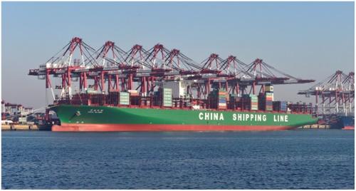 一季度中远海运集团在青岛港的集装箱装卸量增长40%