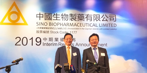 Sino Biopharmaceutical Announces 2019 Interim Results
