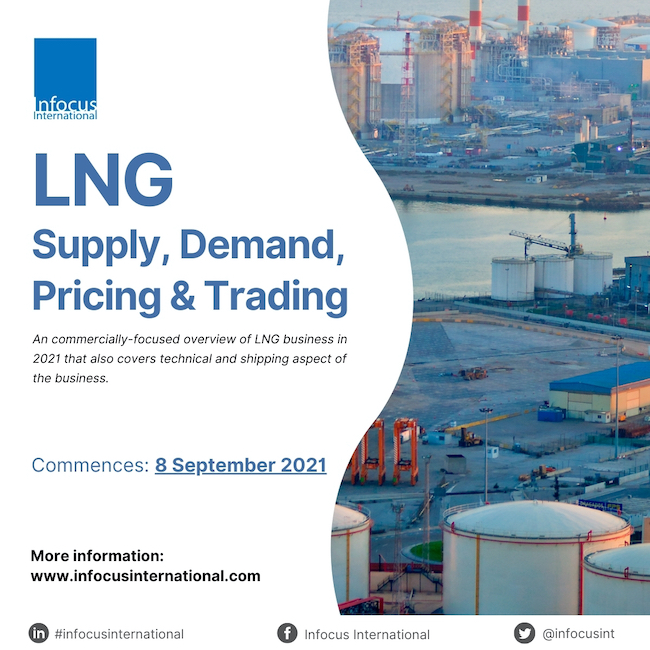 Infocus International Announces Online Training on LNG Supply, Demand, Pricing & Trading