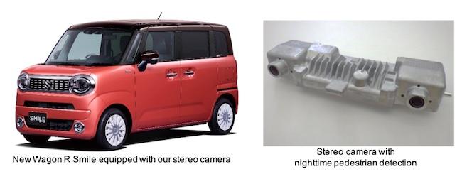 Stereo Camera Adopted in Suzuki's New Wagon R Smile