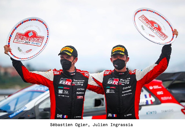 TOYOTA GAZOO Racing scores a remarkable one-two in Sardinia