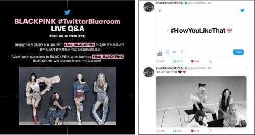 Global K-Pop #BLACKPINK LIVE comeback party #TwitterBlueroom