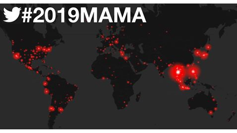 K-Pop Twitter set abuzz with 102 Million Tweets about 2019 MAMA, ranking #1 on Twitter real-time trends across 46 countries