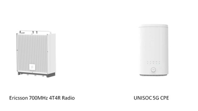 UNISOC and Ericsson Complete 5G NR 700MHz DL 4x4 MIMO Test