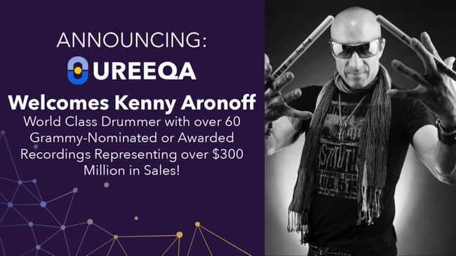 The UREEQA Collection of Pledged Assets Welcomes Kenny Aronoff