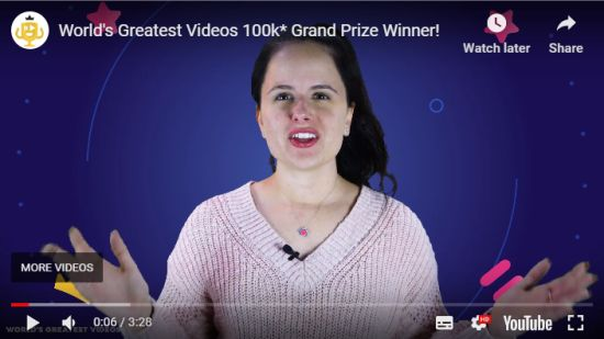 World's Greatest Videos(TM) Announces $100,000* 2019 Grand Prize Winner
