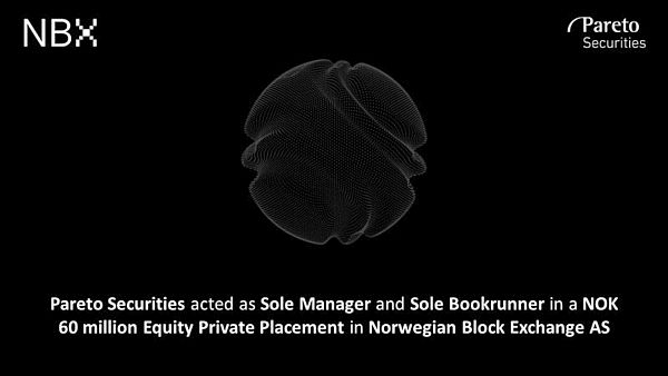 Norwegian Block Exchange (NBX) Raises Capital for Growth