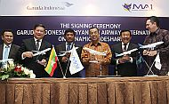 Garuda Indonesia Signs Code Share Agreement with Myanmar Airways International